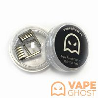 Комплект спиралей Vape Ghost Coil Triple Fused Clapton 2 шт 0,15 Ом