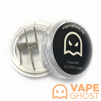 Комплект спиралей Vape Ghost Coil Fused MTL 2 шт 0.70 Ом