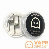Комплект спиралей Vape Ghost Coil Triple Staggered MTL 2 шт 0.39 Ом