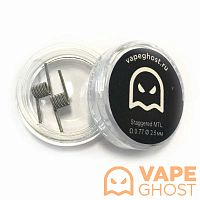 Комплект спиралей Vape Ghost Coil Staggered MTL 2 шт 0.77 Ом