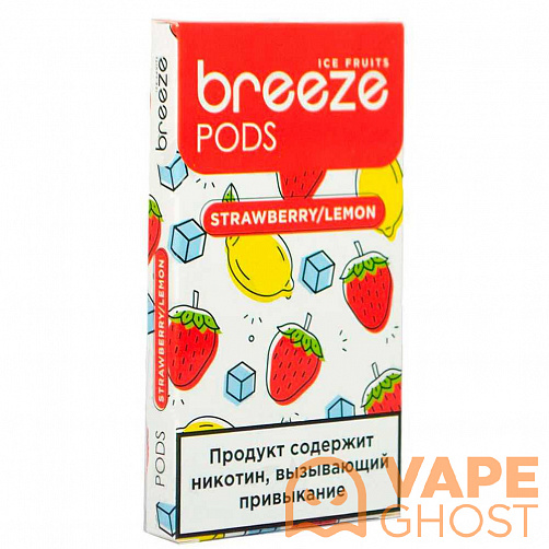 Картридж Breeze Pods Strawberry Lemon x 4 шт (50 Мг)